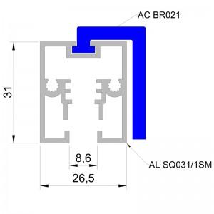 acrilight square 2 AcriLight Square Алюминиевый профиль