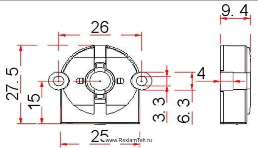phoca thumb l patron g13 povorotniy dlya lyumineszentnih lamp t8 schema - Фурнитура для люминесцентных ламп