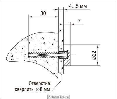 Держатель крепления панелей к стене 5.12