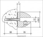 <b>Кронштейн </b>3.03 S=12мм чертеж