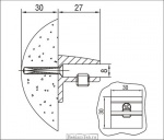 <b>Кронштейн </b>3.08; L=30 мм