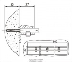 <b>Кронштейн </b>3.08; L=600 мм чертеж