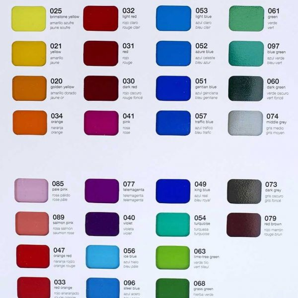 oralite 8300 colors 2 600x600 - Oracal 8300 Transparent Cal