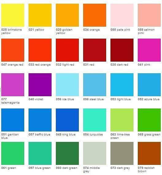 oralite 8300 colors - Oracal 8300 Transparent Cal