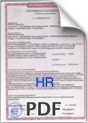 Сертификат для ПВХ Ondex HR