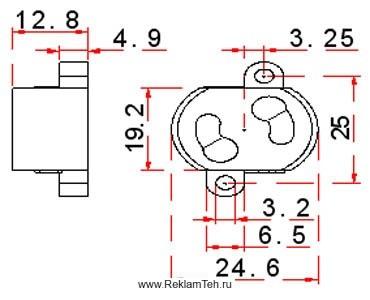 phoca thumb l derjzatel startera schema - Фурнитура для люминесцентных ламп