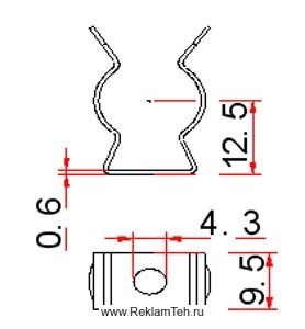 phoca thumb l klipsa stalnaya dlya krepleniya lyumineszentnih lamp t5 f16mm schema - Фурнитура для люминесцентных ламп
