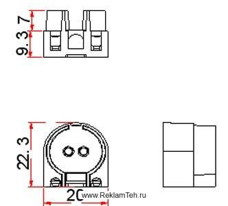 phoca thumb l patron g5 nakidnoy dlya lyumineszentnih lamp t5 f16mm schema - Фурнитура для люминесцентных ламп