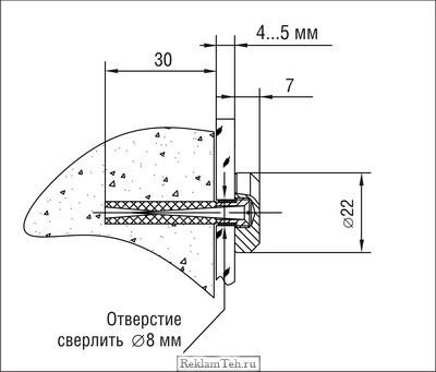 Держатель крепления панелей к стене 5.11