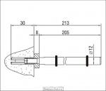 <b>Кронштейн </b>3.05 М под анкер чертеж