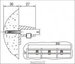 <b>Кронштейн </b>3.08; L=800 мм чертеж