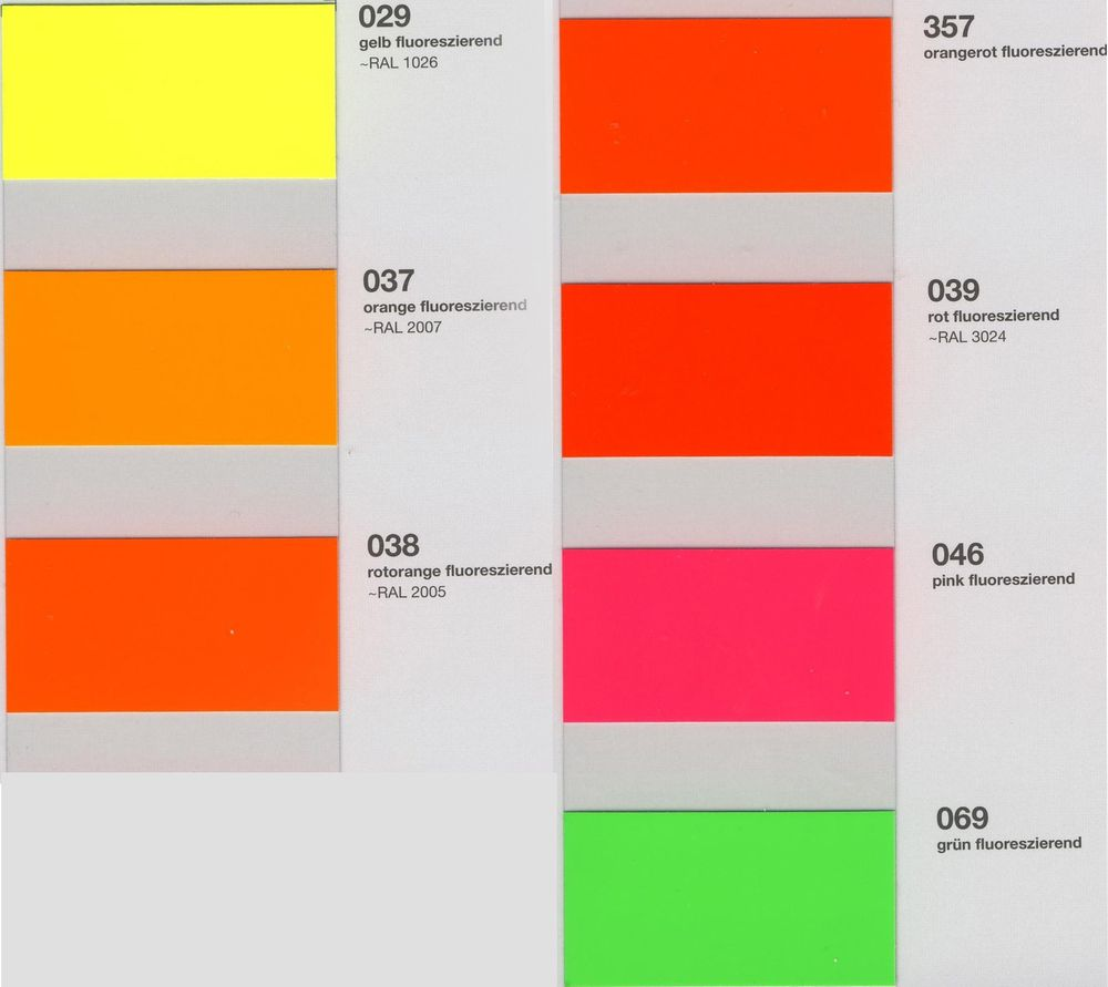 Oracal 7510 colors - ORACAL 7510 Fluorescent Premium Cast