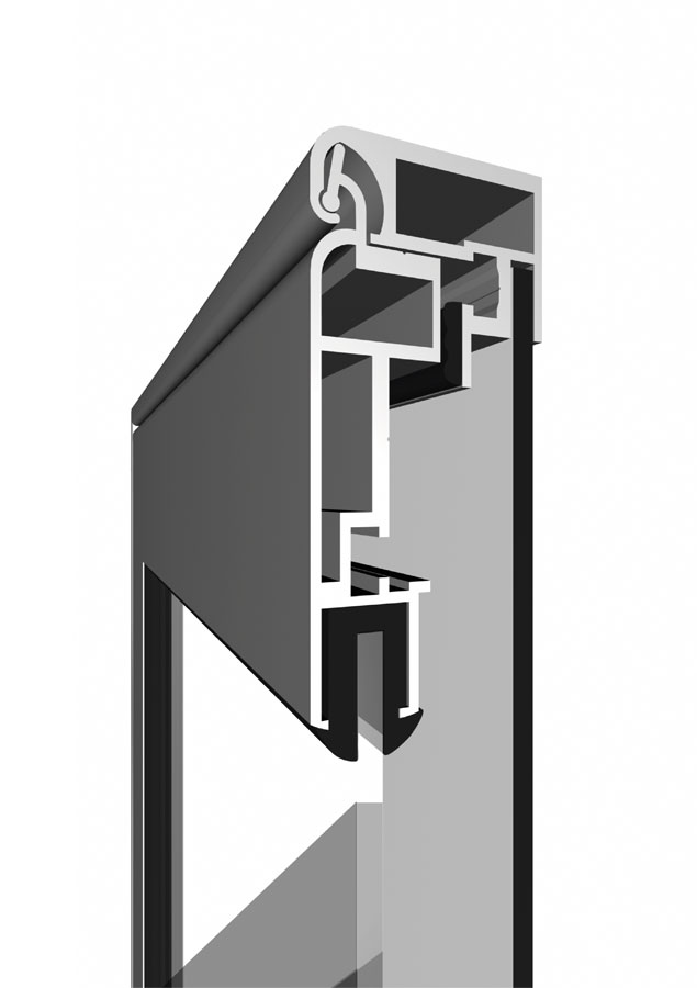 Vitrinnaya sistema windowbox 30 1 - Витринный короб с дверцей WindowBox 30