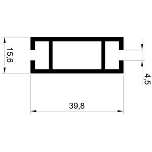 Profil inpost PR TU416 - Монтажные профили AluRain