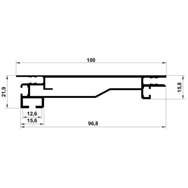 TexBox 100 usilennyj dlya odnostoronnego svetovogo koroba s tekstilem 4 600x600 - TexBox 100 усиленный профиль для лайтбоксов (Система алюминиевых профилей)